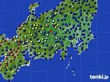 関東・甲信地方のアメダス実況(日照時間)(2020年07月01日)