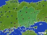 岡山県のアメダス実況(日照時間)(2020年07月01日)