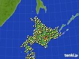 2020年07月01日の北海道地方のアメダス(気温)
