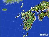 2020年07月01日の九州地方のアメダス(気温)