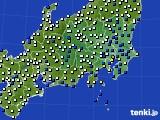 2020年07月01日の関東・甲信地方のアメダス(風向・風速)