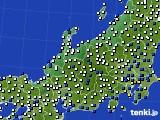 北陸地方のアメダス実況(風向・風速)(2020年07月01日)
