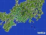 2020年07月01日の東海地方のアメダス(風向・風速)
