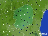 栃木県のアメダス実況(風向・風速)(2020年07月01日)