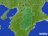 2020年07月01日の奈良県のアメダス(風向・風速)