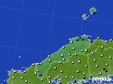 2020年07月01日の島根県のアメダス(風向・風速)