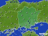 岡山県のアメダス実況(風向・風速)(2020年07月01日)