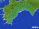 2020年07月01日の高知県のアメダス(風向・風速)