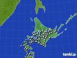 2020年07月02日の北海道地方のアメダス(降水量)