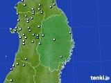 2020年07月02日の岩手県のアメダス(降水量)