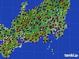関東・甲信地方のアメダス実況(日照時間)(2020年07月02日)