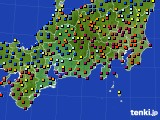東海地方のアメダス実況(日照時間)(2020年07月02日)
