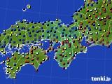 2020年07月02日の近畿地方のアメダス(日照時間)