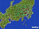 関東・甲信地方のアメダス実況(気温)(2020年07月02日)