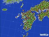 2020年07月02日の九州地方のアメダス(気温)