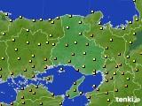 2020年07月02日の兵庫県のアメダス(気温)