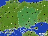 2020年07月02日の岡山県のアメダス(気温)