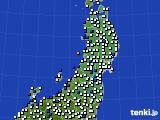 東北地方のアメダス実況(風向・風速)(2020年07月02日)