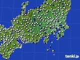 2020年07月02日の関東・甲信地方のアメダス(風向・風速)