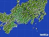 2020年07月02日の東海地方のアメダス(風向・風速)