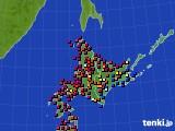 2020年07月03日の北海道地方のアメダス(日照時間)