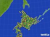 2020年07月03日の北海道地方のアメダス(気温)