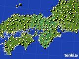 2020年07月03日の近畿地方のアメダス(気温)