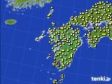 2020年07月03日の九州地方のアメダス(気温)
