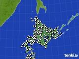 2020年07月03日の北海道地方のアメダス(風向・風速)