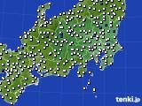 2020年07月03日の関東・甲信地方のアメダス(風向・風速)