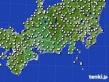 2020年07月03日の東海地方のアメダス(風向・風速)