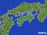 四国地方のアメダス実況(風向・風速)(2020年07月03日)