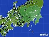 関東・甲信地方のアメダス実況(降水量)(2020年07月04日)