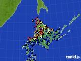 北海道地方のアメダス実況(日照時間)(2020年07月04日)