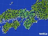 2020年07月04日の近畿地方のアメダス(日照時間)