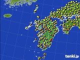 2020年07月04日の九州地方のアメダス(気温)