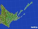 道東のアメダス実況(気温)(2020年07月04日)