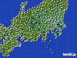 2020年07月04日の関東・甲信地方のアメダス(風向・風速)