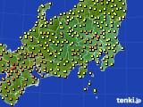 関東・甲信地方のアメダス実況(気温)(2020年07月05日)