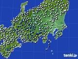 関東・甲信地方のアメダス実況(降水量)(2020年07月06日)