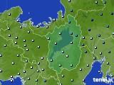 滋賀県のアメダス実況(降水量)(2020年07月06日)