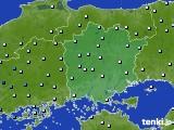 岡山県のアメダス実況(降水量)(2020年07月06日)