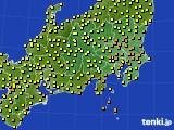 関東・甲信地方のアメダス実況(気温)(2020年07月06日)