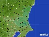 茨城県のアメダス実況(気温)(2020年07月06日)