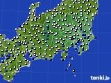 関東・甲信地方のアメダス実況(風向・風速)(2020年07月06日)