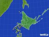 北海道地方のアメダス実況(降水量)(2020年07月07日)