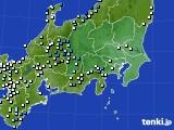 関東・甲信地方のアメダス実況(降水量)(2020年07月07日)