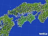 四国地方のアメダス実況(降水量)(2020年07月07日)