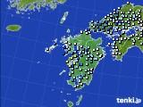 九州地方のアメダス実況(降水量)(2020年07月07日)