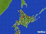 北海道地方のアメダス実況(気温)(2020年07月07日)